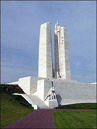 image of the Vimy Ridge Memorial